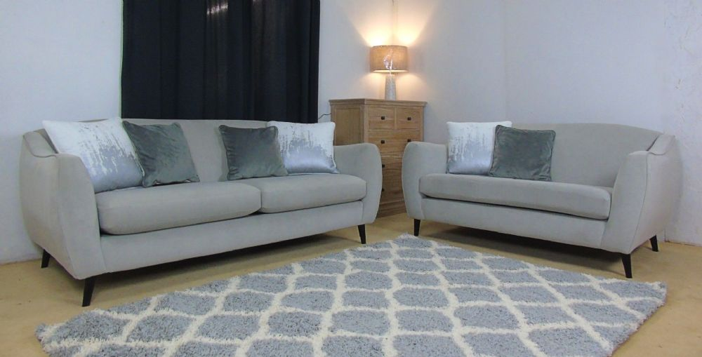 Chelsea Sprung Back Large and Medium Velvet Sofas